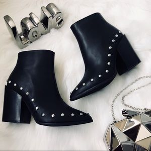 Nasty Gal Studded Booties size 7